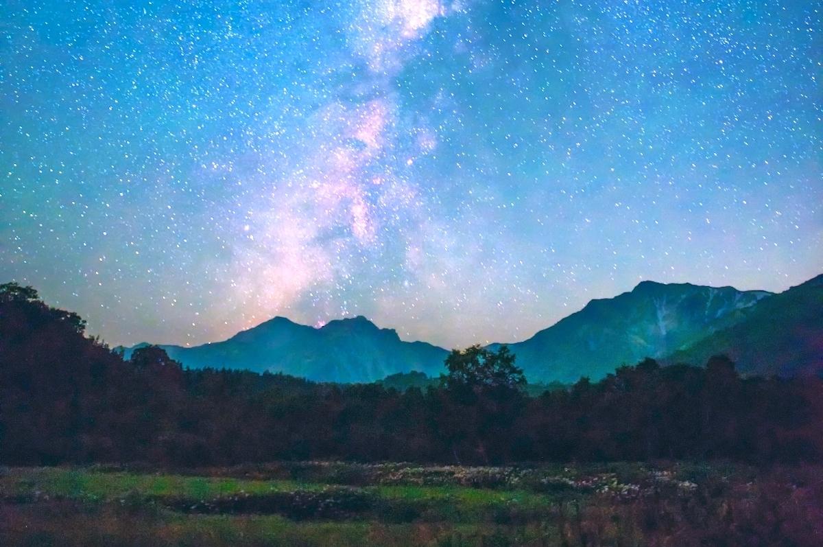 栂池自然園・天の川